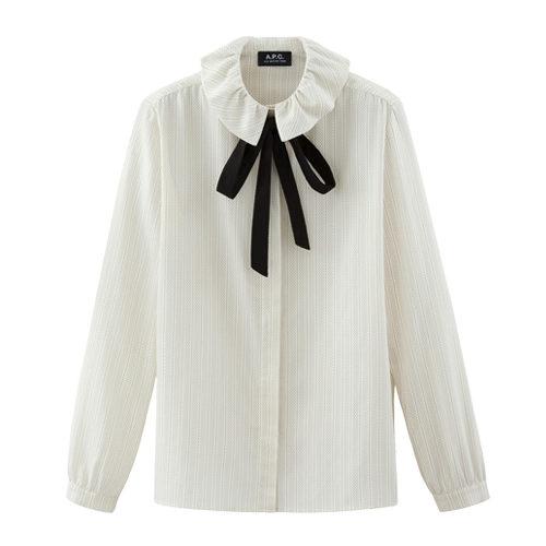 A.P.C. Aimy tie neck cotton top