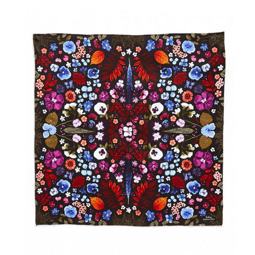 Echo Enchanted Forest silk square scarf