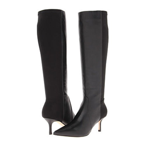 Ivanka Trump Issa black heeled boots