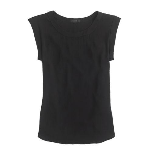 J. Crew sleeveless drapey tee in black