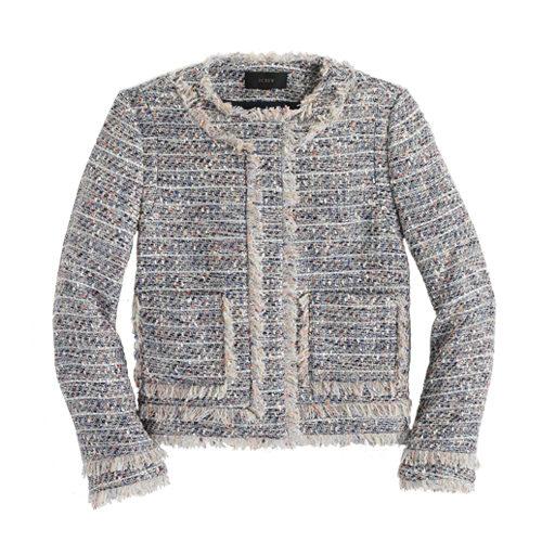 J Crew Tweed Jacket with zippers